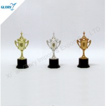 Gold Silver Bronze Plastic Awards Trophies for School