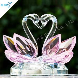 Wholesale Pink Crystal Swan Wedding Gifts for Souvenir