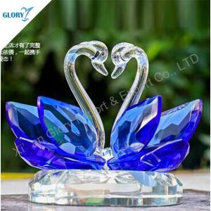 Wholesale Blue Swans Crystal Wedding Gifts for Souvenir