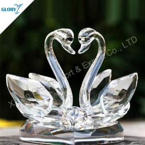Elegant Clear Swans Crystal Wedding Gifts Wholesale