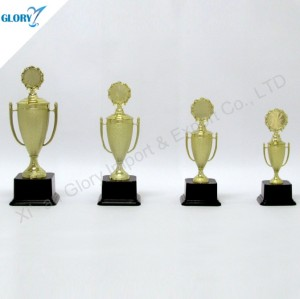 Wholesale Golden Plastic Awards Trophy Cups