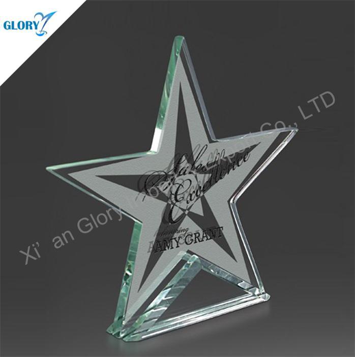 Custom Trophy Jade Glass Star Awards