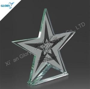 Custom Trophy Jade Glass Star Awards