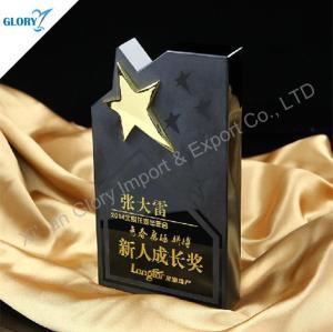 New Design Crystal Star Black Trophy for Souvenir