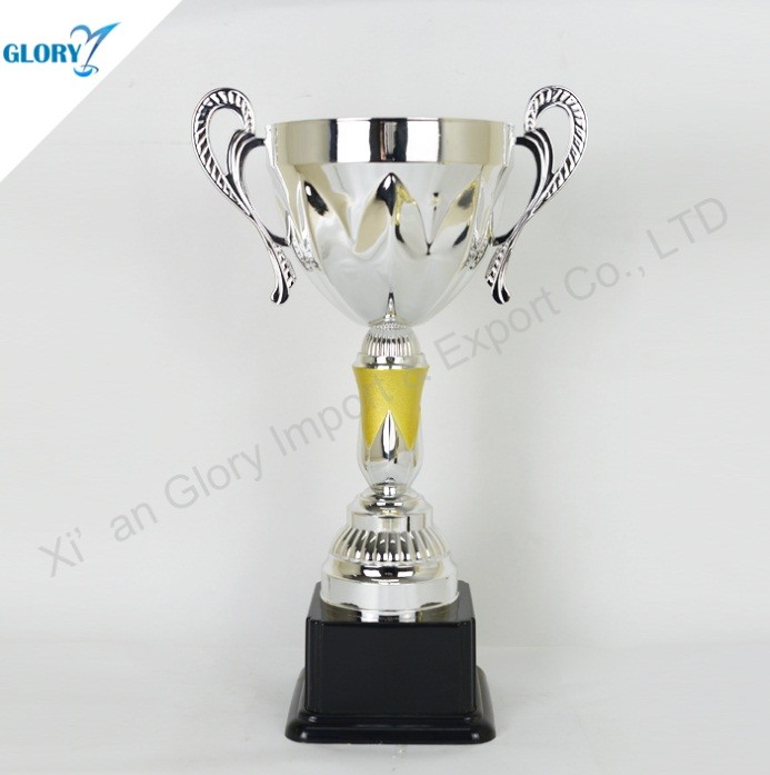 Elegant Cup Silver Trophy with Ears
