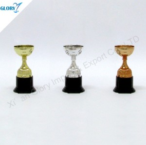 Wholesale Plastic Golden Silver Bronze Awards Cup