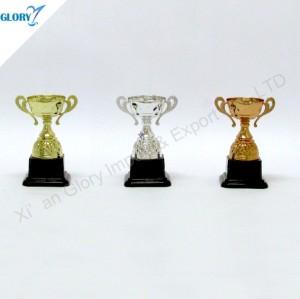 Golden Silver Bronze Plastic Trophy Cup