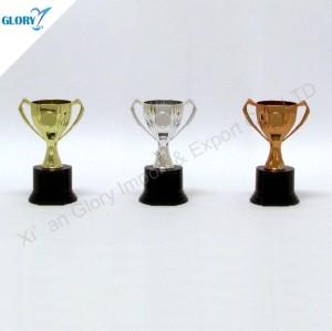 Golden Silver Bronze Trophy Cup Plastic