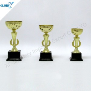 New Design Golden Cup Theme Perpetual Trophy