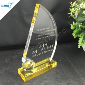 Custom Qualtiy Crystal Sailing Trophies