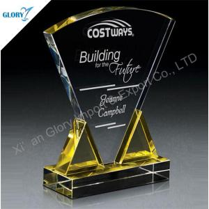 Custom Artwork Plaque Crystal Trophy for Award Show