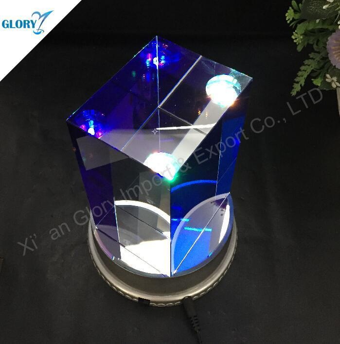 Custom Elegant Crystal Glass Cube