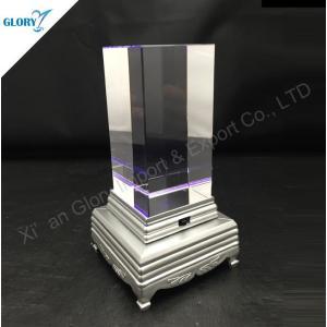 Custom Elegant Blank Crystal Cube with Base
