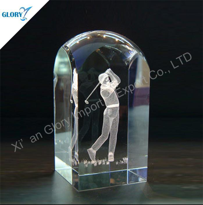 Action 3D Crystal Golf Themed Gifts