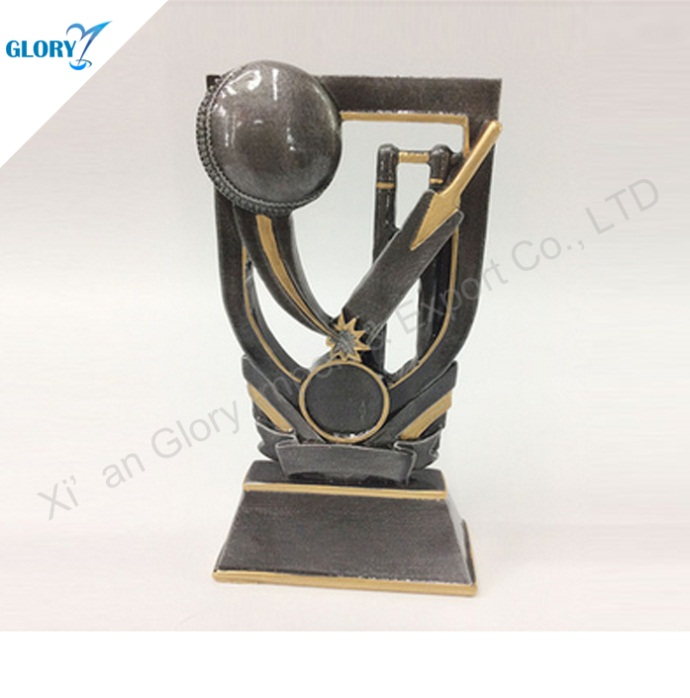 Gold Silver Bronze Resin Cricket Trophies