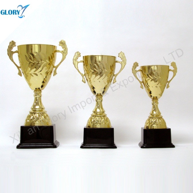 Quality Golden Cup Trophies with Black Base