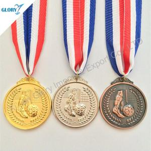 Gold Silver Bronze Football Medals for Sports