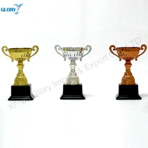 Gold Silver Bronze Plastic Cup Trophies