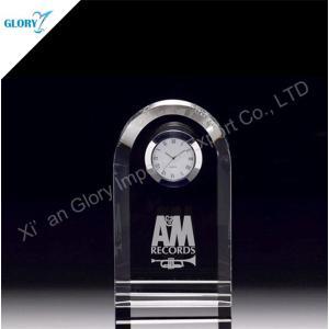 Wholesale Elegant Desk Clock Crystal Gift for Souvenir