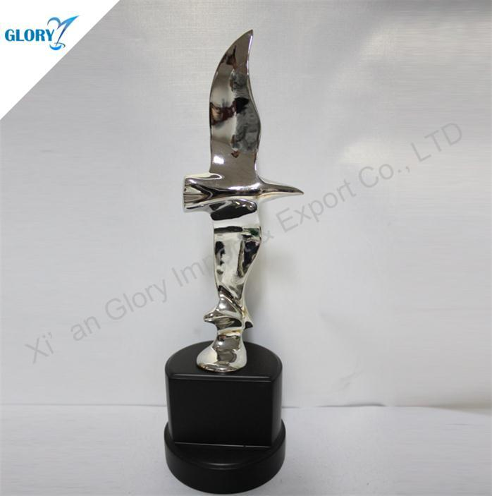 Wholesale Silver Metal Trophy Eagle Awards