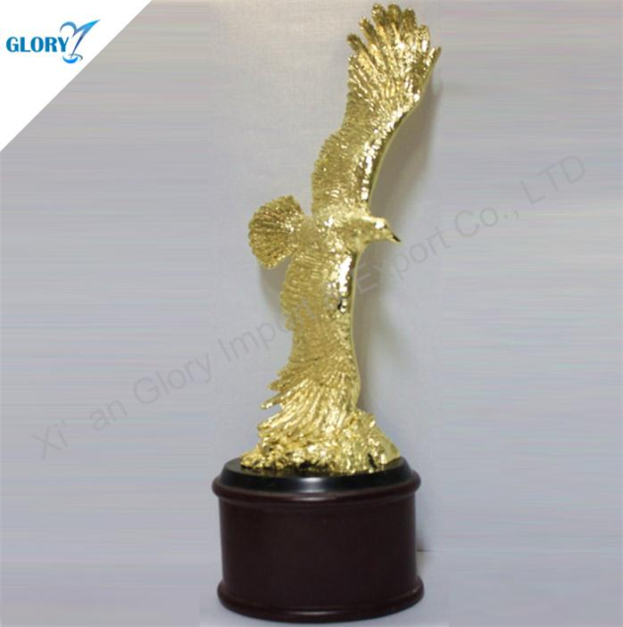 Custom Golden Metal Trophy Eagle Awards
