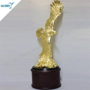 Custom Golden Metal Trophy Eagle Awards