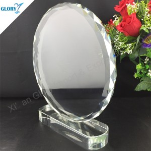 Wholesale Blank Round Crystal Trophy Plates