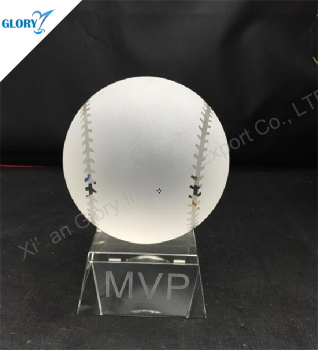 Fantasy Crystal Trophy Baseball Souvenir for Award Show