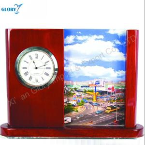 Wholesale Red Wooden Clock for gift