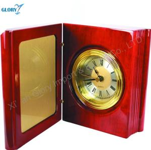 Custom Quality Red Wood Clock