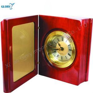 Custom Quality Red Wood Clock