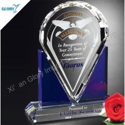 Premios de Diseño de nuevos cristal grabados para el recuerdo