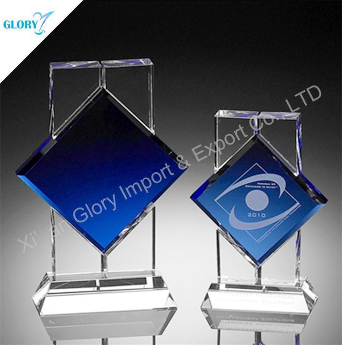 Azul Cristal Trofeos y placas personalizadas