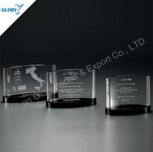 Custom Crystal Plaque Trophy Recognition Awards
