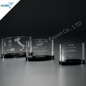 Premios de cristal de encargo de placa de reconocimiento Trophy