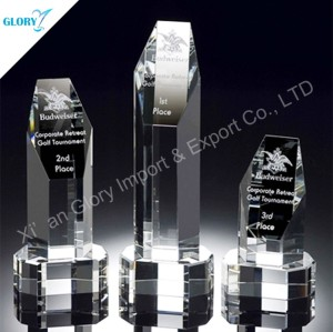 Quality Blank Glass Crystal Trophies for Engraving