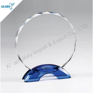 Round Shape Award Crystal Circle Plaque