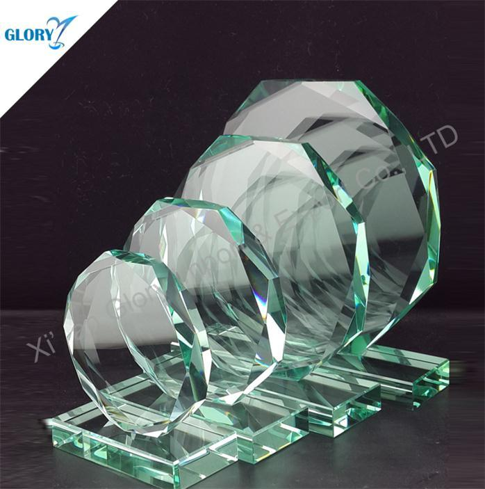 Wholesale Blank Octagon Glass Awards Trophies