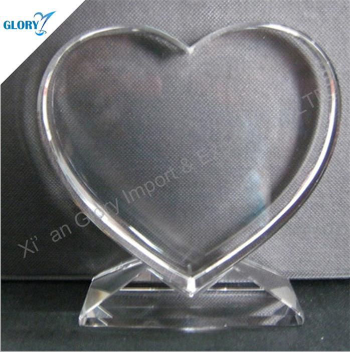 Custom Blank K9 Crystal Heart Award
