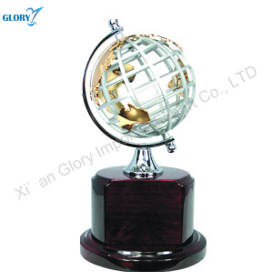 Metal Globe Table Decoration Globe Trophy for Gift
