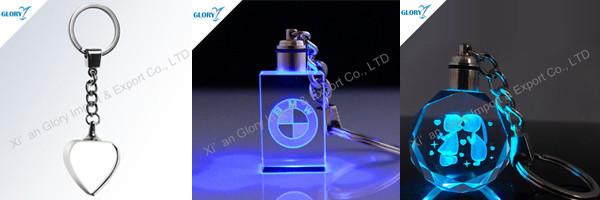 crystal glass keychain - gloryawardtrophy