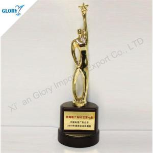 Custom Gold Plated Statue Trophies Personalized Awards