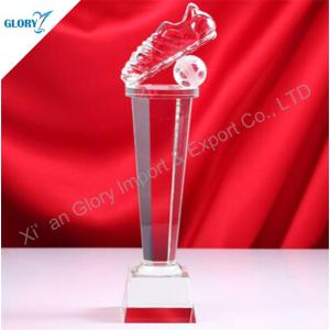 Funny Crystal Custom Football Trophies for Award Show