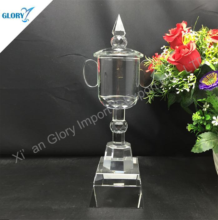 Elegant Beautiful Crystal Trophy Cup for Award Show