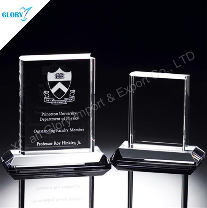 Customized K9 Crystal Book Award for Trophy Souvenir