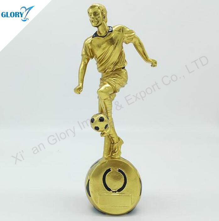 Wholesale Cool Golden Resin Soccer Awards for Kids