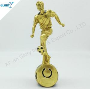 Wholesale Cool Golden Resin Soccer Awards for Kids