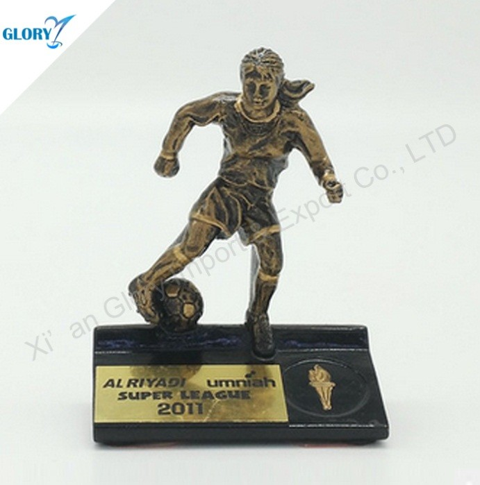 Action Youth Soccer Award Trophy for Female Athletes