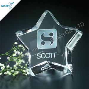 Wholesale Crystal Stars with Logo Engraved