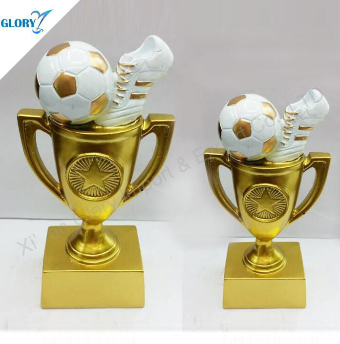 Fantasy personalised youth football trophies
